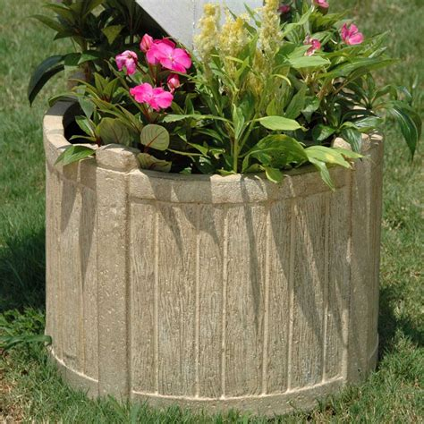 What Is Planters by 18 1 2 In D Cast Mailbox Planter In Limestone
