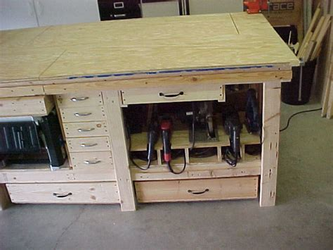 power tool bench workbench features