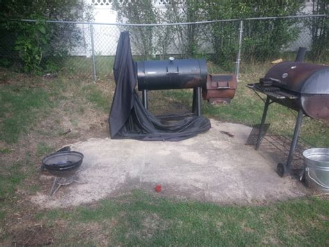 backyard grill help with backyard grill area need to make this look better