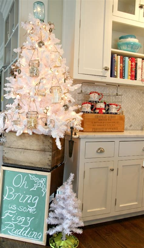 kitchen tree ideas decorating with a white tree eclectically vintage