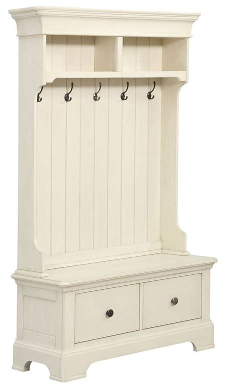 hall tree bench white white hall tree with storage bench d046 109 03 pulaski