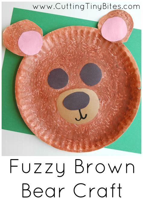 bear pattern for kindergarten fuzzy brown bear craft bear crafts fun art projects and