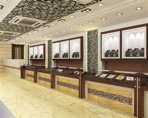 beautiful jewellery display store design and manufacturer