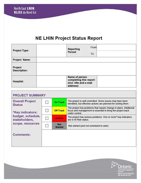 project status report template templates 7 word documents premium