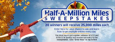 United Million Mile Giveaway - united mileageplus shopping half a million miles sweepstakes michael w travels