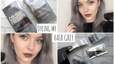 gray nonperminit hair color for kids dyeing my hair grey jasmine mcrae youtube