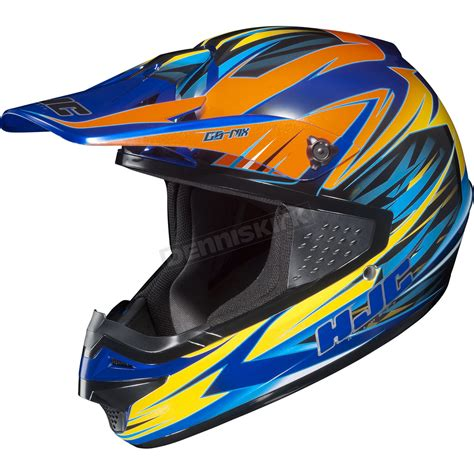 Cs 316 Blue hjc orange yellow blue mc 23 cs mx shattered helmet 316