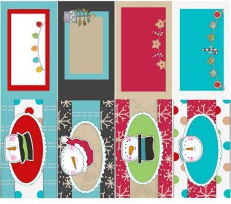 fold  christmas gift tags  gift bag handles