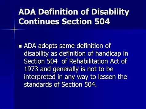 section 504 disability ppt americans with disabilities act powerpoint