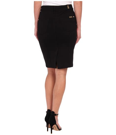 7 Black Skirts by 7 For All Mankind Fashion High Waist Seamed Doubleknit