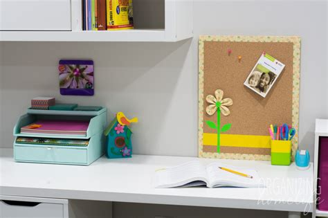 Back To School Desk Organization Organizing Back To School With A Duck Bulletin Board Organizing Homelife