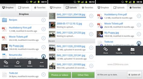 dropbox android dropbox for android updated to version 2 0 adds offline storage bulk uploads and ics support