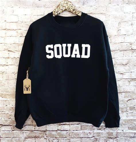 Hoddie Jumper Sasquad squad sweatshirt squad shirt squad jumper fleece crewneck