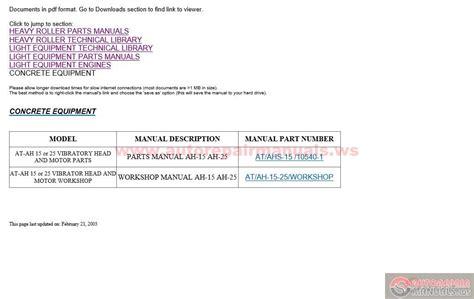 dynapac epc   models auto repair manual forum