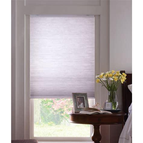 light blocking blinds lowes shop levolor 72 in l dove light filtering cordless