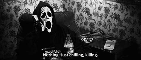 Scream Wazzup Meme - scary lol death funny black and white creepy funny gif lol
