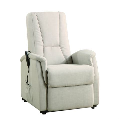 recliners that lift homelegance glenson power lift chair in beige linen