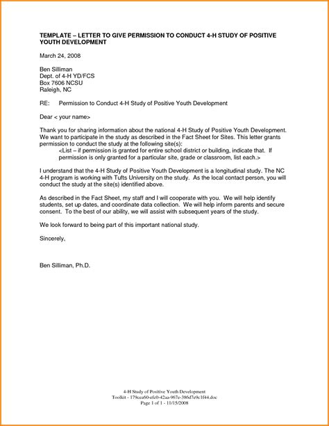 letter giving permission authorization letter pdf