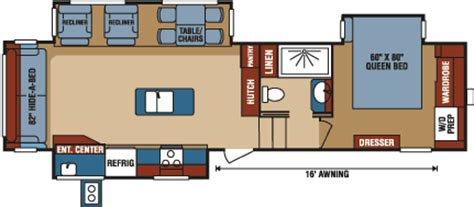 durango 5th wheel floor plans 2016 durango 2500 full profile fifth wheel floorplans