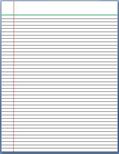 lined paper template for lined paper template format template