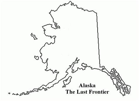 coloring page map of alaska alaska state map coloring page www pixshark com images