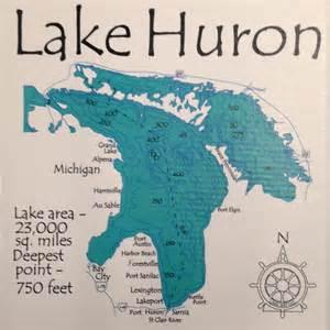 Customized Photo Ornaments Lake Huron Detail Close Up