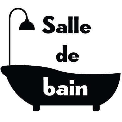Logo Baignoire by Sticker Porte Salle De Bain Baignoire Stickers Salle De