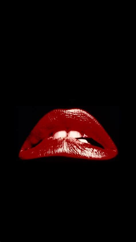 red lips rocky horror show lock screen  apple