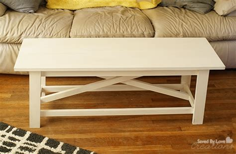 Rustic Coffee Table Diy Diy Rustic Coffee Table From The Handbuilt Home