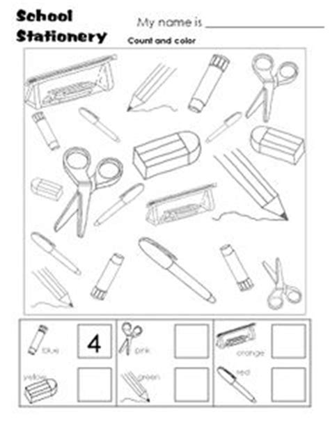 school objects matching b w worksheets kola pinterest school objects matching b w worksheets škola pinterest