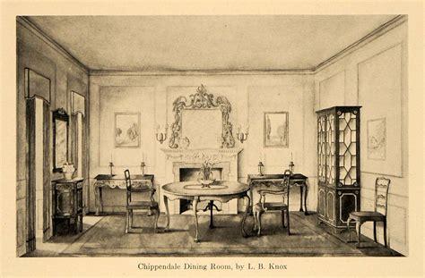 antique dining room furniture 1920 1920 print chippendale furniture dining room l b