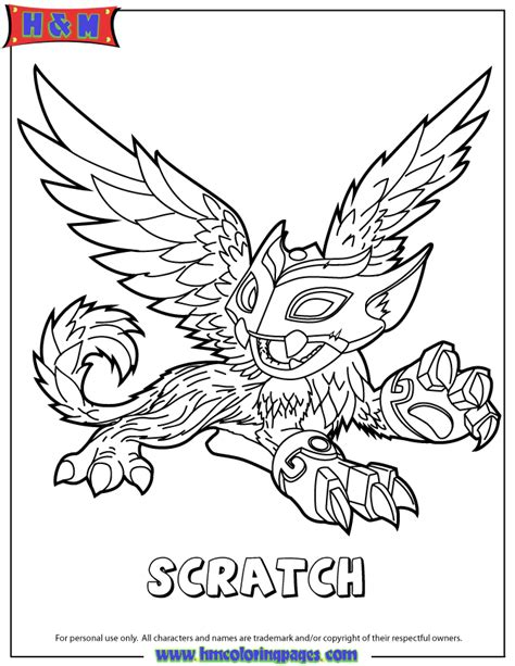 free coloring pages of skylanders warnado