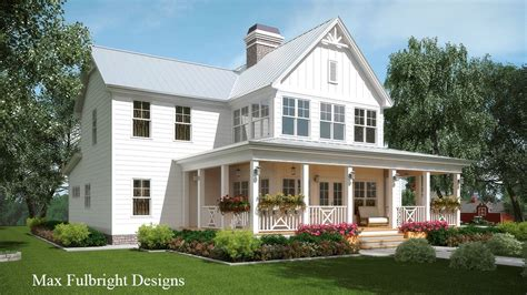 house plans farmhouse modern 2 story house plan with covered front porch