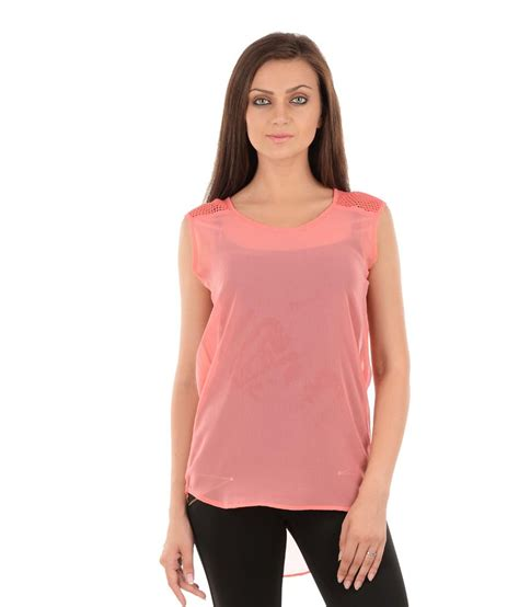 Yasmin Top 2in1 Pnk buy sanchey pink poly georgette tops at best prices in india snapdeal