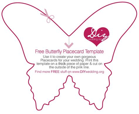 free diy butterfly placecard template fairytale wedding