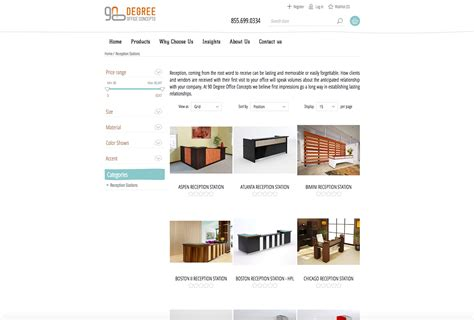 90 degree office furniture nopcommerce site abinko