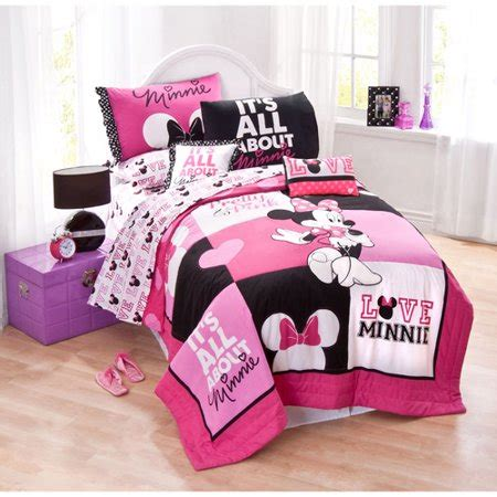 Minnie Mouse Bedding by Disney Minnie Mouse Bedding Quilt Set Walmart