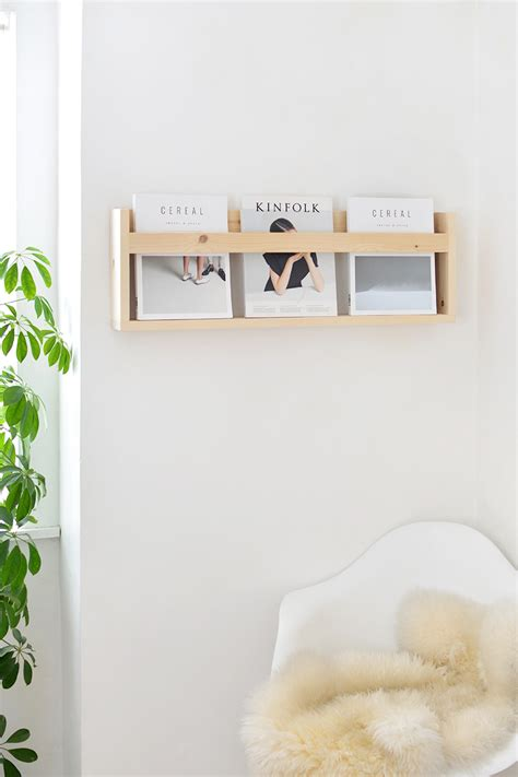 we design magazine holder diy modern magazine shelf burkatron