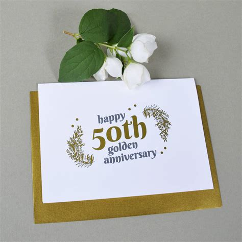 50th Wedding Anniversary Gifts Gold by Personalised With Gold 50th Wedding Anniversary Gift By