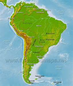 south america physical features map south america physical map freeworldmaps net
