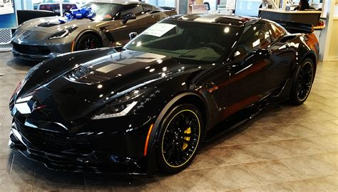 black corvette z06 for sale two c7 r 3lz z06 corvettes available black yellow at