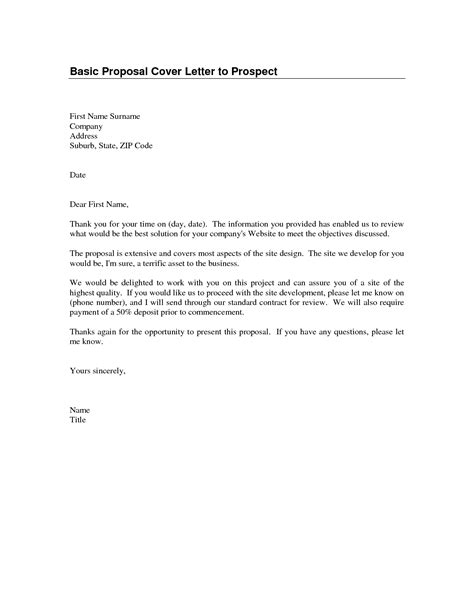 Business Letter Format Basic cover letter basic format best template collection