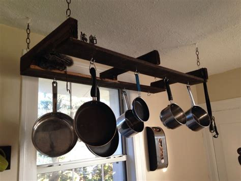 home improvements pallet pot rack a greenpoint kitchen pallet pot holder pallet projects pinterest pots