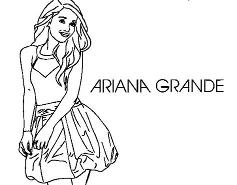 free coloring pages of ariana