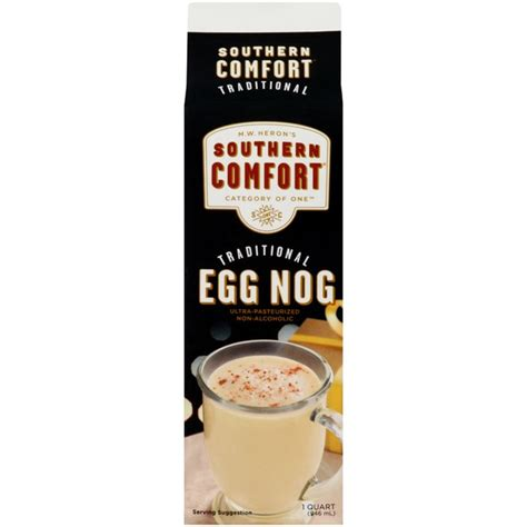 eggnog and southern comfort southern comfort traditional non alcoholic egg nog 1 qt