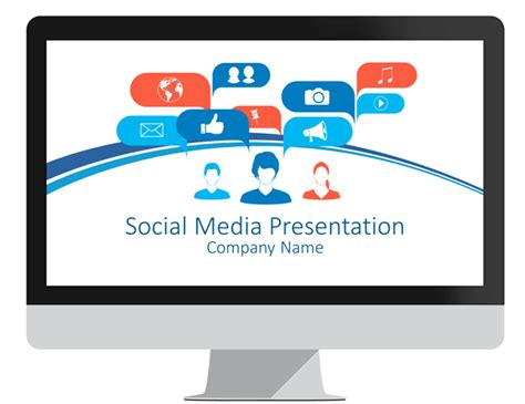 Social Media Concept Powerpoint Template Media Powerpoint Templates