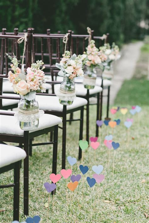 easy diy wedding ceremony decorations wedding ceremony chair decorations diy jars