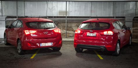 What Is The Difference Between Kia And Hyundai Hyundai I30 Sr V Kia Cerato Si Comparison Gearopen