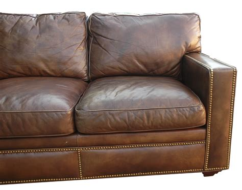 distressed brown leather couch distressed leather sectional homesfeed
