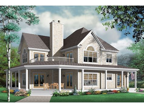 wrap around porch home plans greenfield farm country home plan 032d 0681 house plans